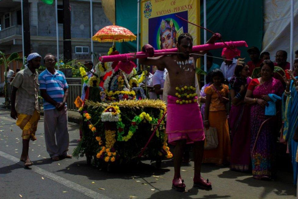 Festival Kavadi je tamilský extrémny rituál na oslavu boha Murugana. Foto – archív Petra Maňa