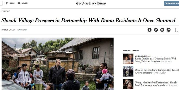 Slovensko je v New York Times aj v pozitívnom svetle.