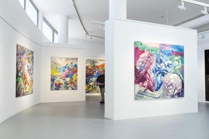 Michael Rittstein a jeho výstava Ľahkým krokom v Danubiane. Foto - Jakub Hauskrecht
