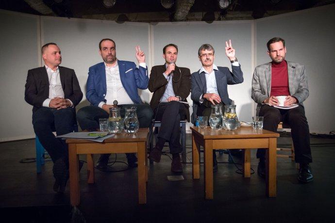 Predvolebná debata kandidátov na bratislavského župana. Ilustračné foto N – Tomáš Benedikovič
