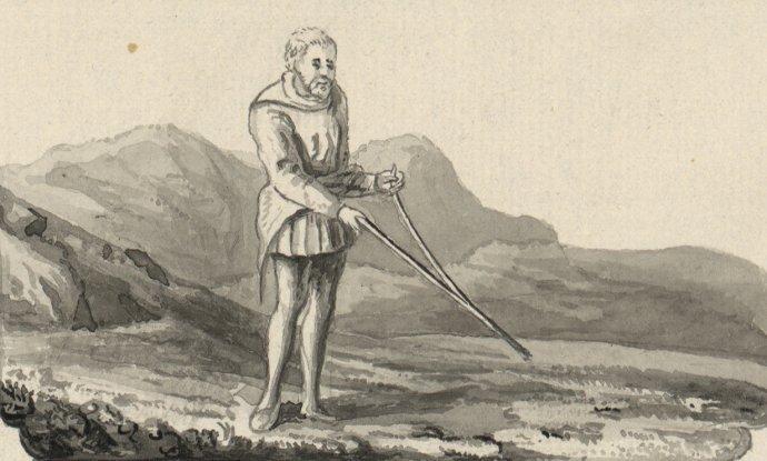 Prútikár. A Tour in Wales od Thomasa Pennanta (1726 – 1798). Foto – Wikimedia/The National Library of Wales