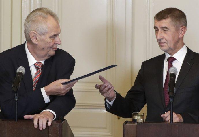 Miloš Zeman a Andrej Babiš majú v Bakalovi spoločného nepriateľa. Foto – TASR