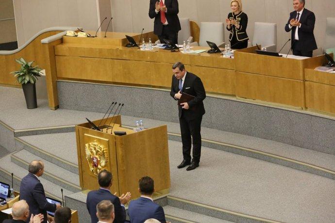 """Andrej Danko v ruskej dume zažil """"standing ovation"""". Foto – FB Andreja Danka"""