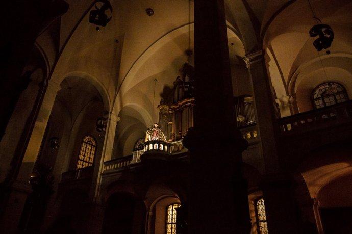 Predstavenie Kenotaf bude mať premiéru v jezuitskom kostole na Františkánskom námestí v Bratislave. Foto – Martina Šimkovičová