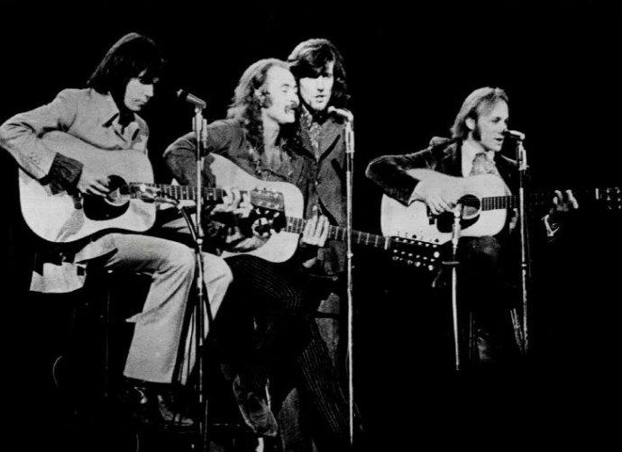 Zľava Young, Crosby, Nash a Stills v roku 1970. Foto - CSN&Y.com