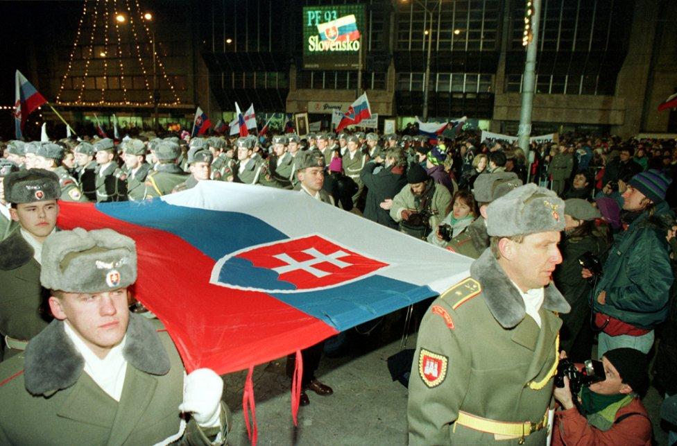 Oslavy vzniku Slovenska na Námestí SNP v Bratislave. Foto – TASR