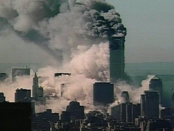 Útok na Svetové obchodné centrum v New Yorku. Foto – TASR