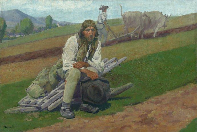 Jozef Hanula: Na rodnej hrude, okolo 1908. Zdroj: webumenia.sk