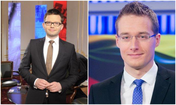 Martin Strižinec a Michal Kovačič. Foto – TASR/TV Markíza