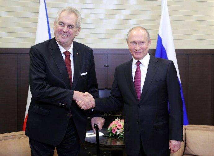 Miloš Zeman a ruský prezident Vladimir Putin v Soči. Foto – TASR