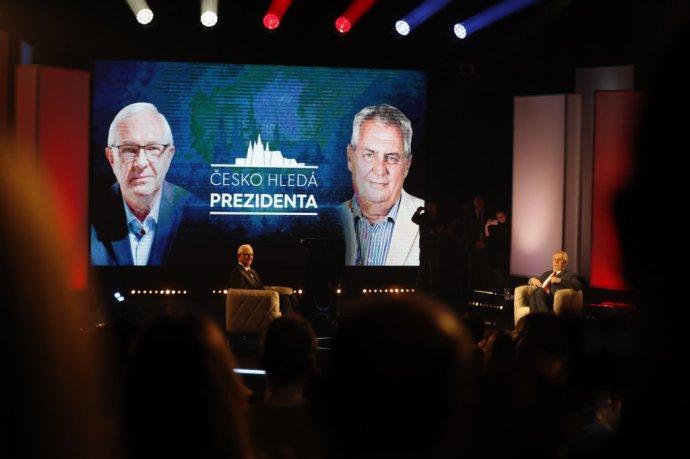 Prezidentská debata v divadle Karlín v réžii TV Prima. Foto – TASR[AP