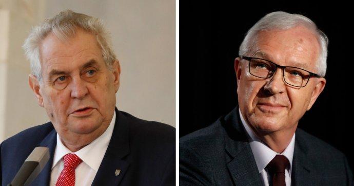 Miloš Zeman a Jiří Drahoš. Foto – TASR