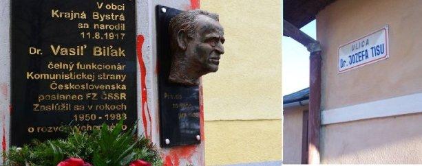 Niekde majú pamätník Vasiľa Biľaka, inde ulicu Dr. Jozefa Tisu.