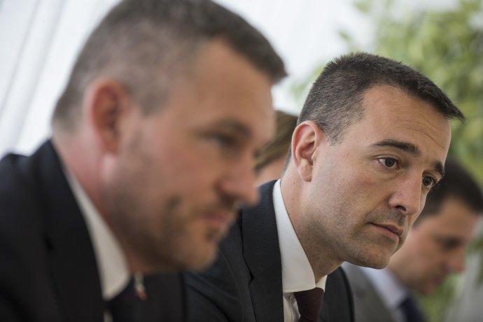 Peter Pellegrini a Tomáš Drucker. Foto - TASR