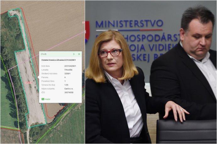 Letisko v Trhovišti a ministerka Matečná so šéfom PPA Kožuchom. foto - GSAA a tasr