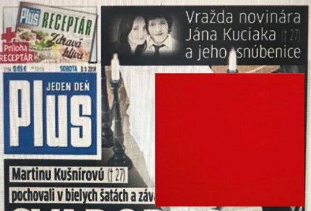 Časť titulky denníka Plus Jeden deň