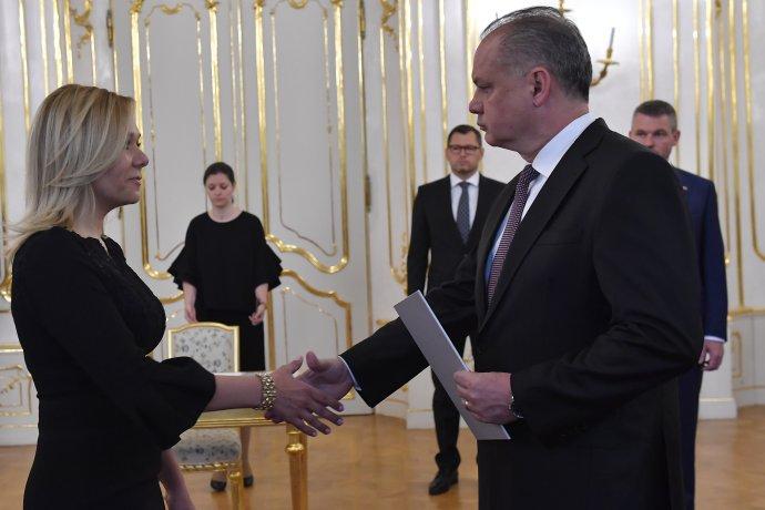 Andrej Kiska a Denisa Saková. Foto – TASR