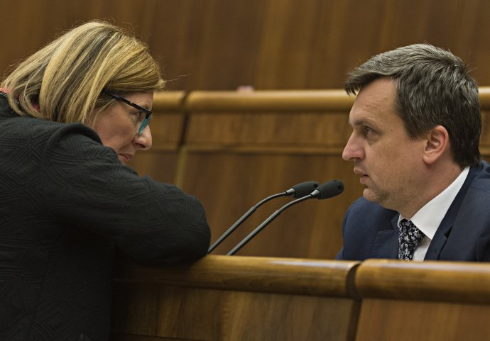 Gabriela Matečná s Andrejom Dankom, ktorý ju nominoval na post ministerky. Foto – TASR