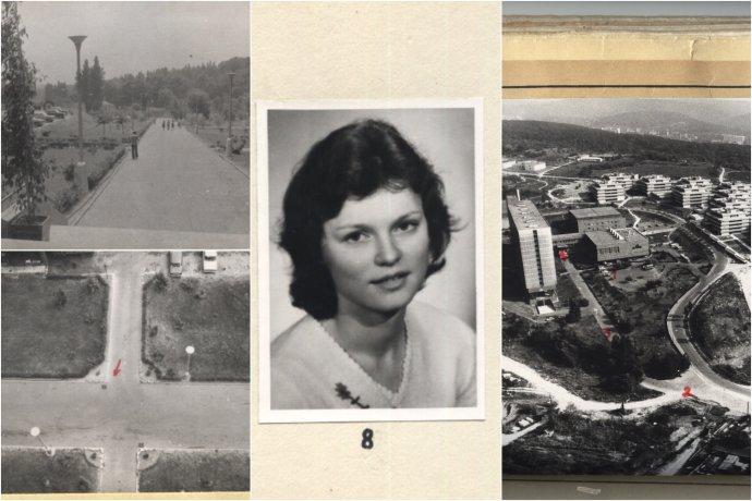Ľudmila Cervanová a fotografie zo spisu.