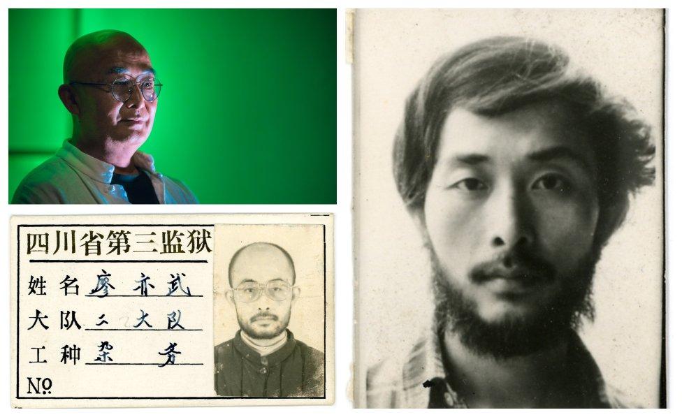 Liao I-Wu v súčasnosti, pred zatknutím a počas väzenia. Foto - Absynt, Mišenka Plantážnik