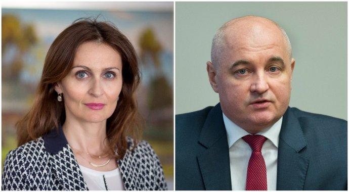 Ministerka Kalavská a šéf sekcie zdravia Miroslav Bdžoch. Foto Denník N a Tasr