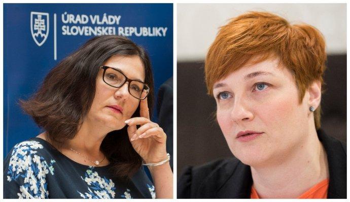 Ministerka Martina Lubyová (vľavo) a riaditeľka projektu To dá rozum Renáta Hall (vpravo). Foto – TASR
