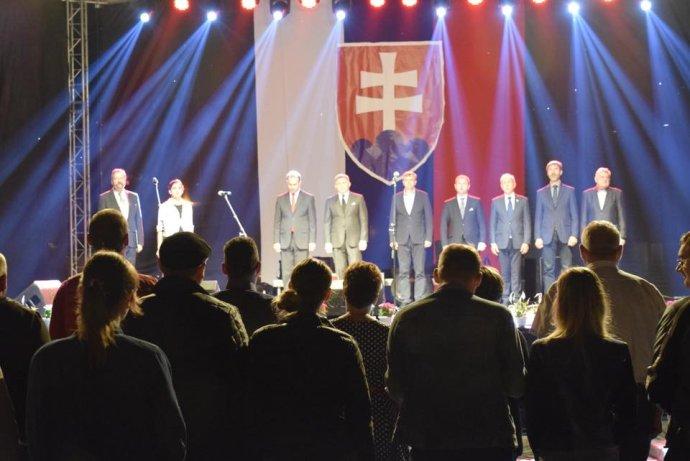 Robert Fico na oslavách v Starej Bystrici. Foto - FB RF