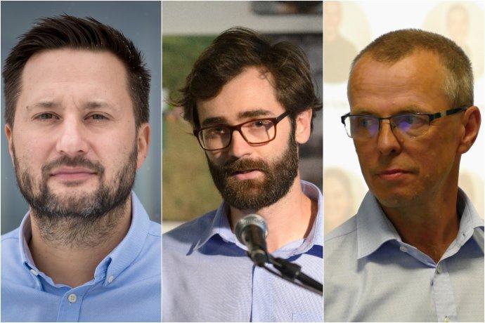 Iniciatíva podporila týchto troch kandidátov na primátora: Matúša Valla v Bratislave, Mareka Hattasa v Nitre a Petra Fiabáneho v Žiline. Foto N – Vladimír Šimíček a tasr
