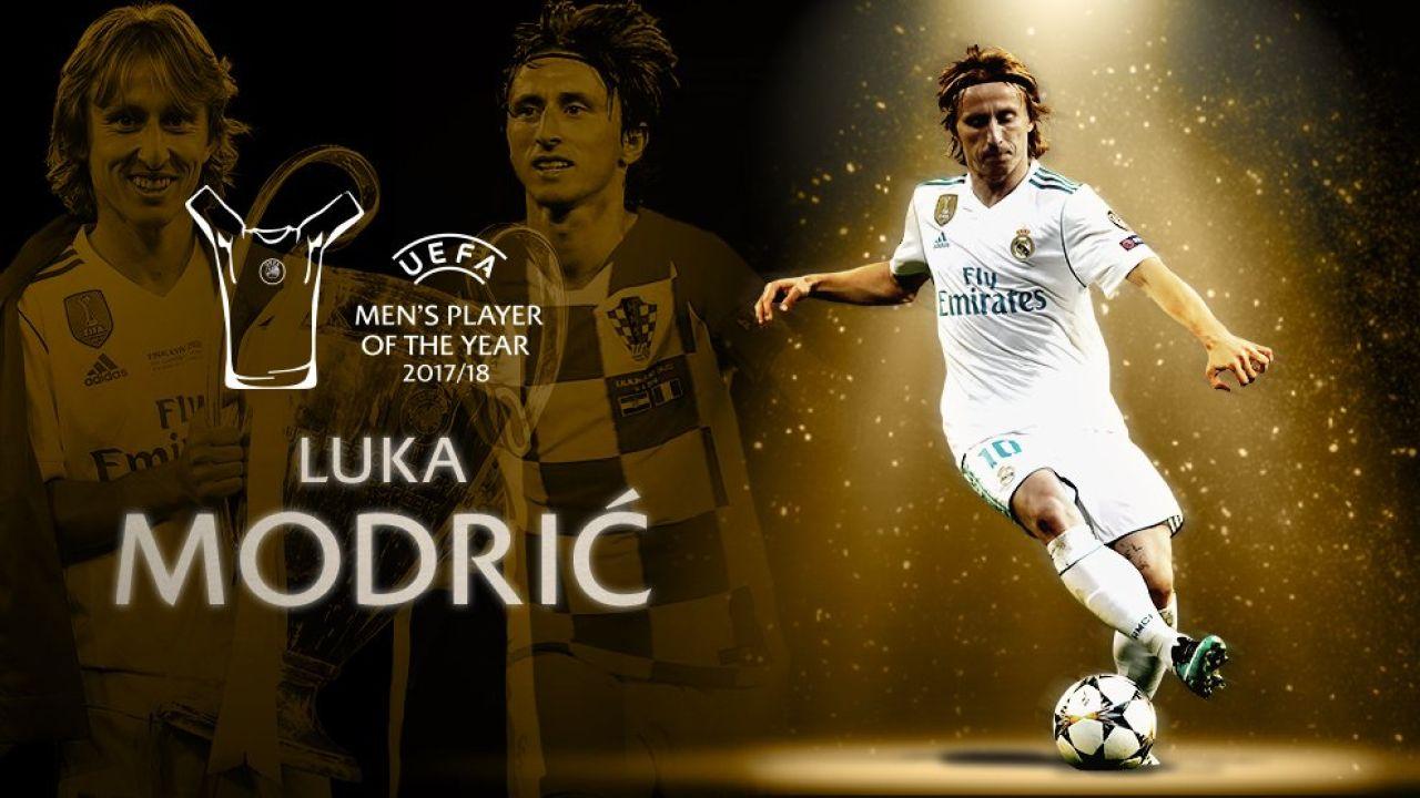 5f71228608 Chorvátsky futbalista Luka Modrić sa stal najlepším hráčom sezóny 2017 2018  podľa UEFA. Stredopoliar Realu Madrid triumfoval v konkurencii svojho  spoluhráča ...
