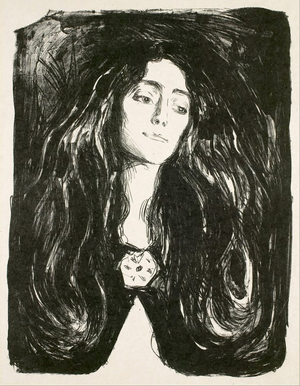 Edvard Munch, The Brooch/Eva Mudocci, Foto: wikipedia.org