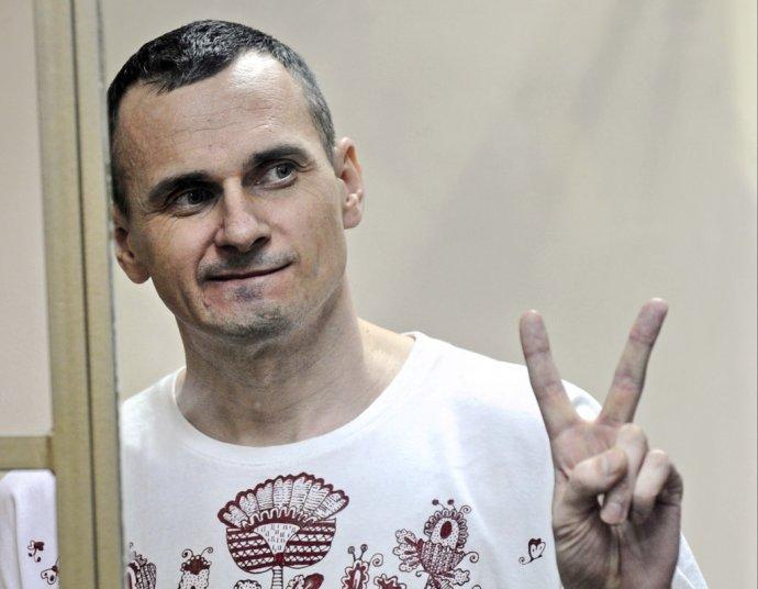 Oleg Sencov počas procesu v roku 2015. Foto – TASR/AP