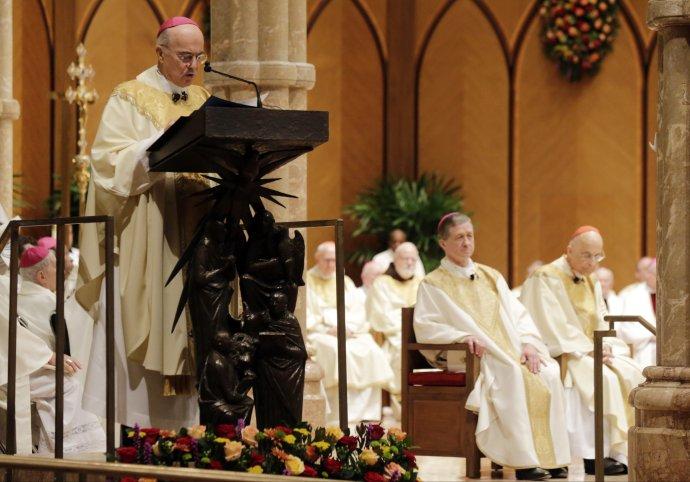 Arcibiskup Carlo Maria Viganò. Foto - TASR/AP