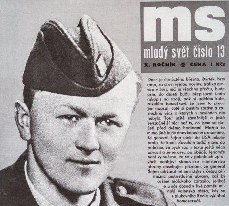 Ďatelinový generál na obálke v tej dobe stále populárnejšieho Mladého světa. Reprofoto – České průšvihy, Barrister and Principal