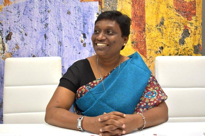Sherin Asha Devanantham prišla na Slovensko na pozvanie ACN Slovensko - Pomoc trpiacej Cirkvi v rámci kampane Sila dalitských žien. Foto - ACN Slovensko