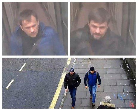 Dvaja hlavní podozriví z útoku v Salisbury. Foto – TASR/AP