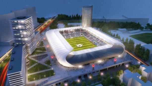 Vizualizácia – Národný futbalový štadión.