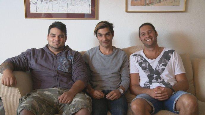 Adoptovaní chlapci (zľava) Christofer, Erik a Alexander. Foto – Katarína Farkašová