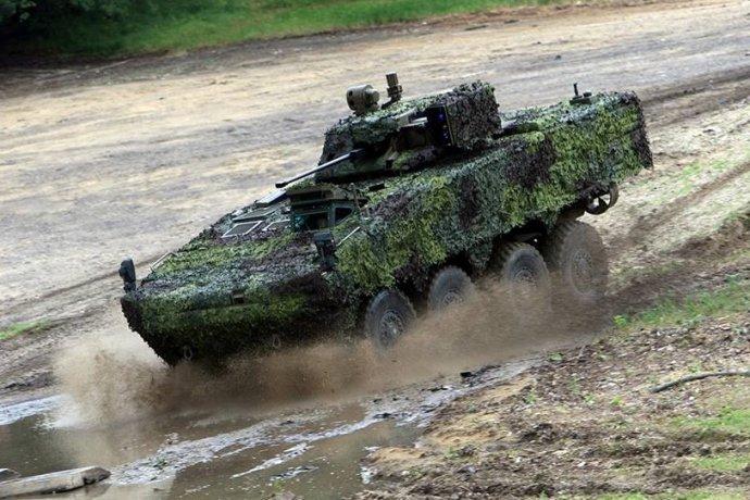 Nový transportér pre slovenskú armádu dostal meno Vydra. Foto - MO