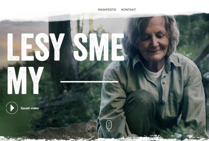Vizuál kampane Lesy sme my. Zdroj – lesysmemy.sk