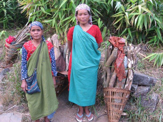 Ženy z kmeňa Khásióv v Indii. Foto - Kateřina Karásková