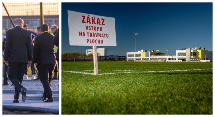 Oszkár Világi a Viktor Orbán na otvorení MOL Football Academy. Foto - Új Szó/Tibor Somogyi; N/Tomáš Benedikovič