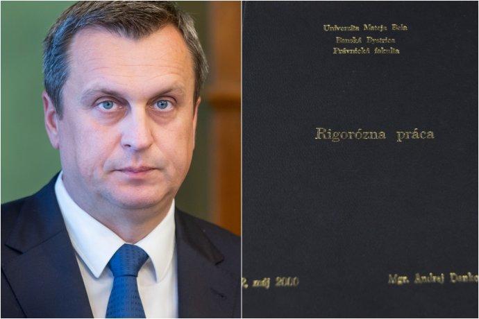 Andrej Danko a jeho rigorózna práca. Foto N – Tomáš Benedikovič a Daniel Vražda