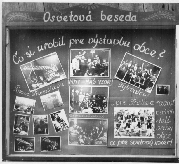 Skrinka Miestneho národného výboru v 1950 keď sa naša obec budovala na výslnie, foto: archív obce Podkonice