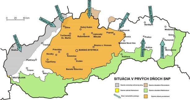 Situácia v prvých dňoch Slovenského národného povstania