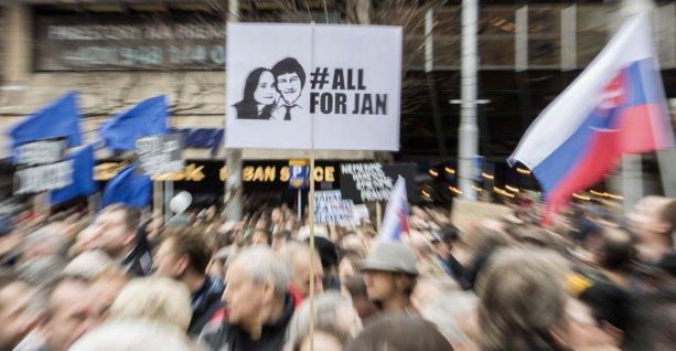 Z protestov v apríli 2018. Foto: TASR.