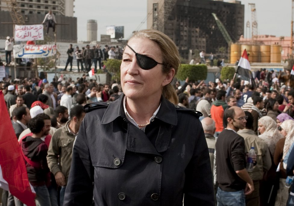 Marie Colvinová počas Arabskej jari v Káhire. Foto - ap
