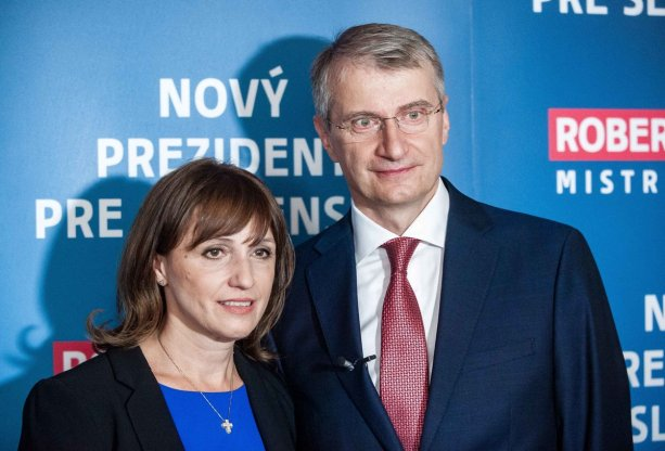 Robert Mistrík s manželkou. Foto - TASR