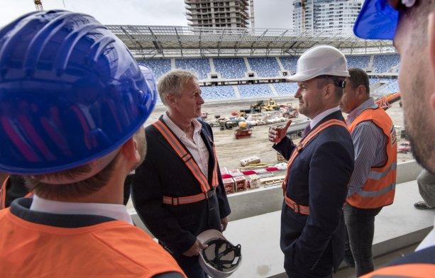 43ce85461b686 Kontrolný deň na stavbe Národného futbalového štadióna v septembri 2018.  Foto: TASR.
