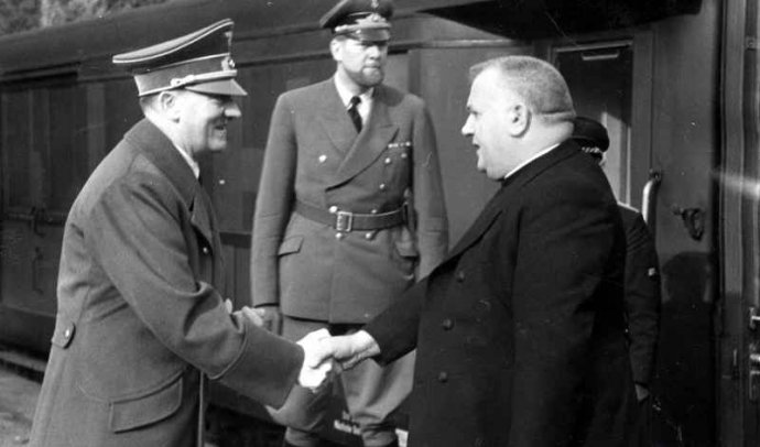 Adolf Hitler a Jozef Tiso. Foto - TASR