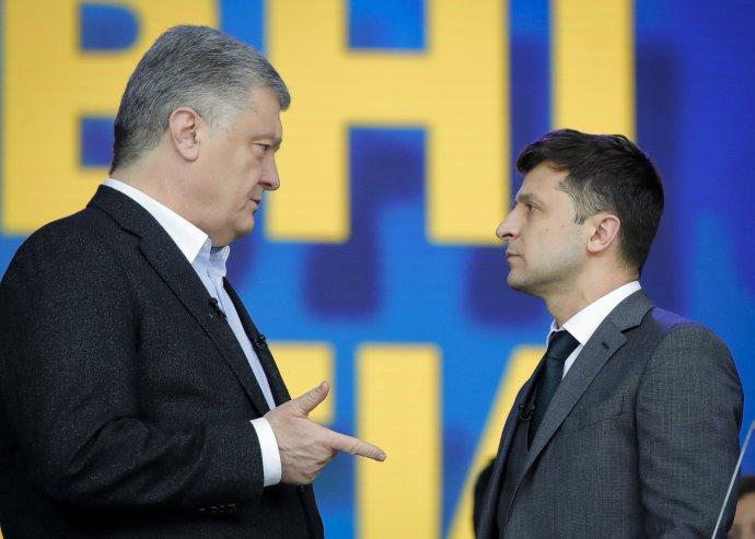 Prošenko vs. Zelenskyj. Foto - TASR/AP